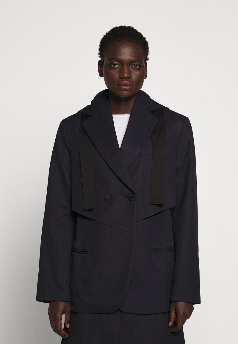 3.1 Phillip Lim - HOODED CUTOUT - Short coat - midnight
