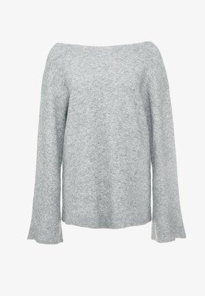 LOFTY BOAT NECK BELL  - Sweter - medium heather grey