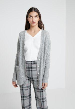 LOFTY WELT POCKET PEARLS - Cardigan - medium heather grey