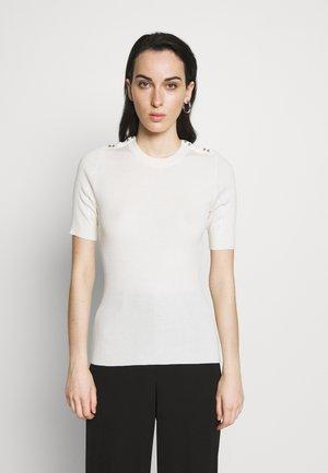 Print T-shirt - ant. white