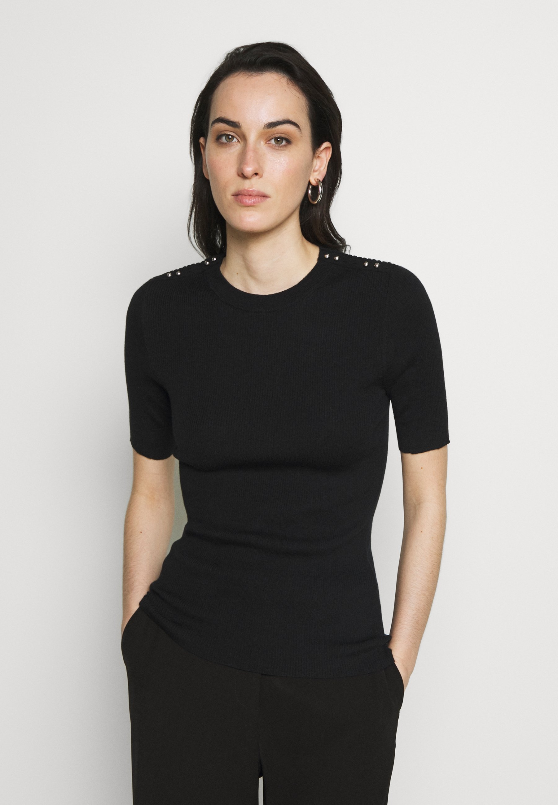 3.1 Phillip Lim T-shirt z nadrukiem - black