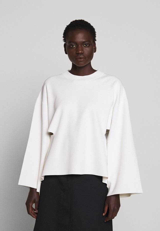CREW NECK SIDE CUTOUT - Jumper - ivory