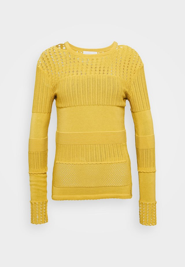 POINTELLE - Pullover - mustard