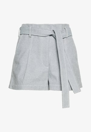 BELTED HIGH WAIST - Shorts - light blue