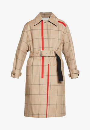 WINDOW PANE SIDE SLIT - Trenchcoat - beige