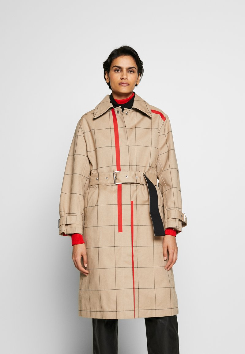 3.1 Phillip Lim - WINDOW PANE SIDE SLIT - Trench - beige