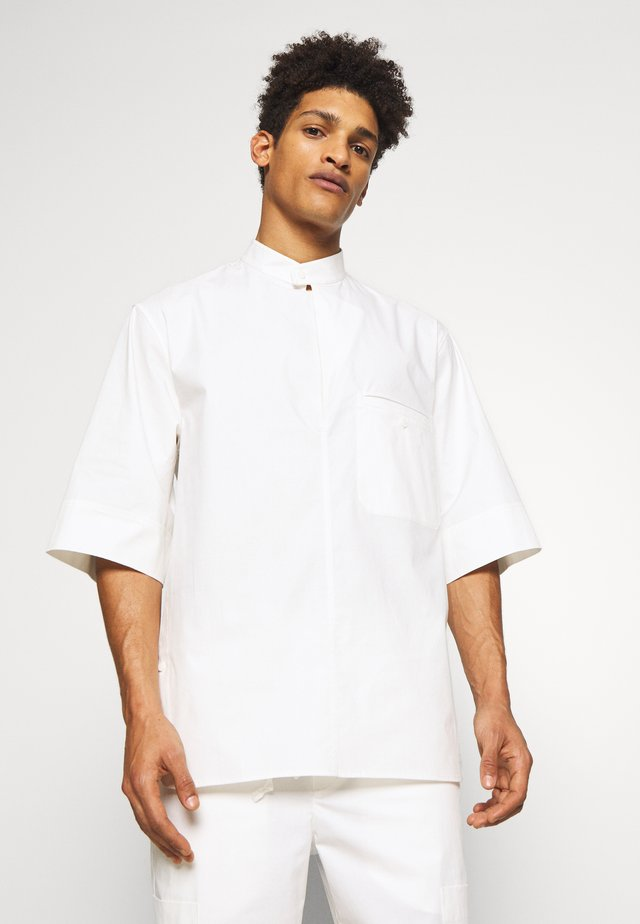 OVERSIZED WASHED BAND COLLAR - Skjorter - offwhite