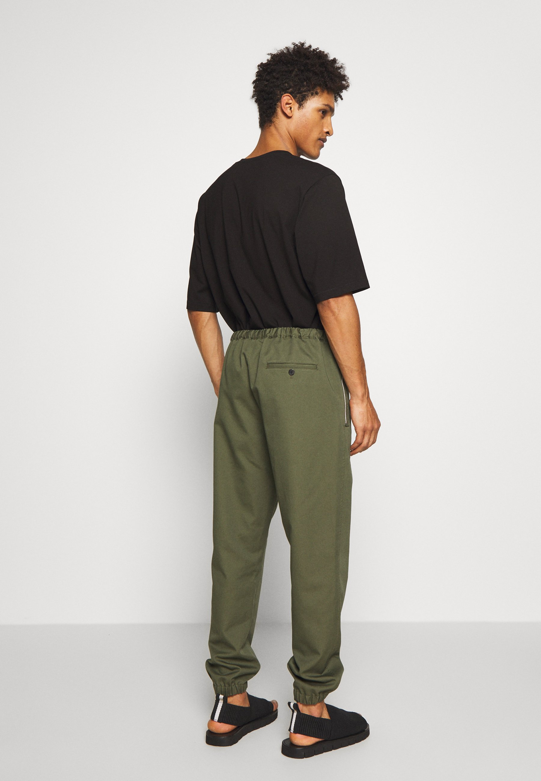 3.1 Phillip Lim WASHED POPLIN CROPPED PANT - Broek - marine
