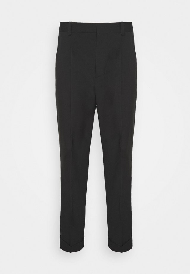 SINGLE PLEAT - Broek - black