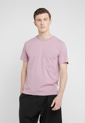 CONTRAST TOPSTITCH - T-shirts - dusty mauve