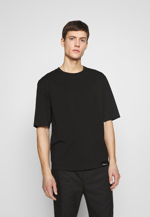 OVERSIZED BOXY CREWNECK TEE - T-shirts basic - black