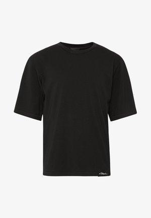 OVERSIZED BOXY CREWNECK TEE - Camiseta básica - black