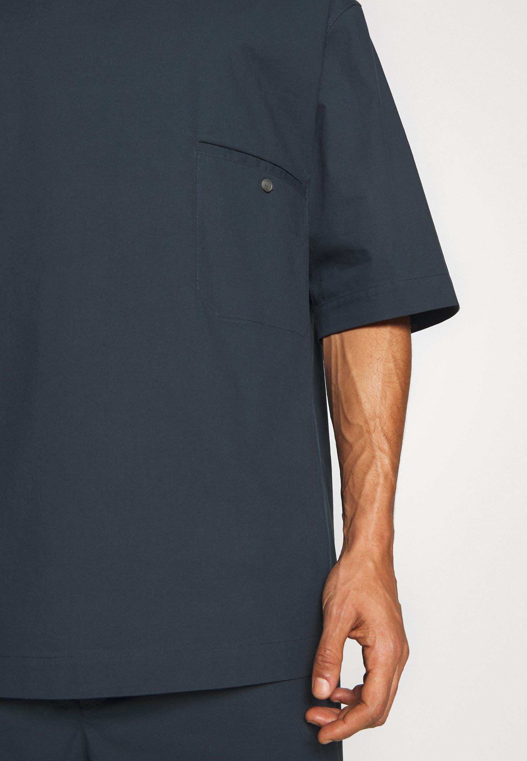 3.1 Phillip Lim Boxy Washed - Skjorta Marine