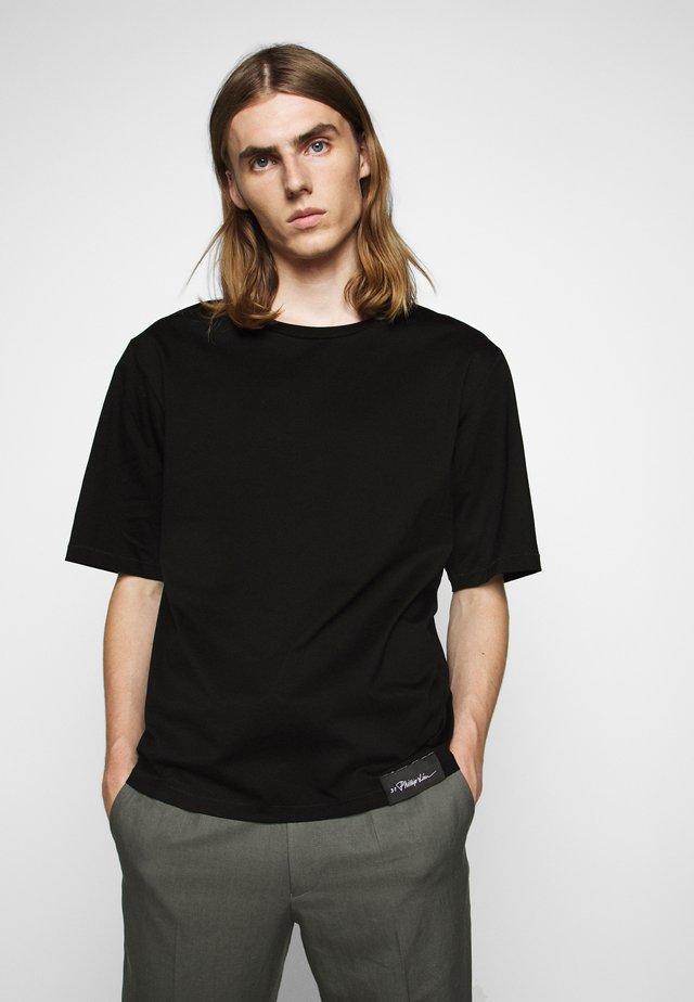 OVERSIZED BOXY CREWNECK TEE - T-shirts basic - black