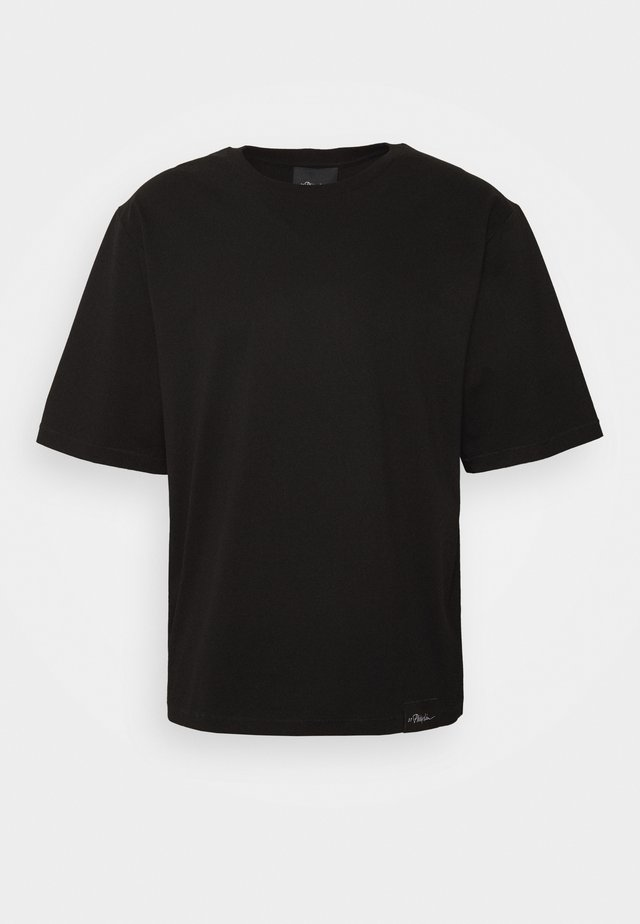 OVERSIZED BOXY CREWNECK TEE - T-shirt basic - black