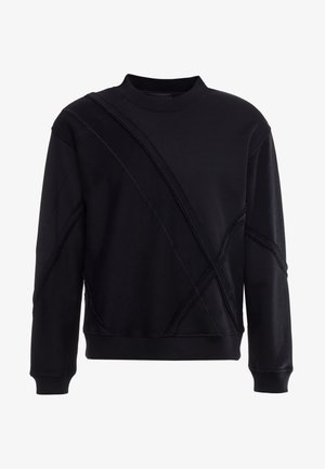 ARGYLE PATCHWORK CREW - Sweatshirt - black