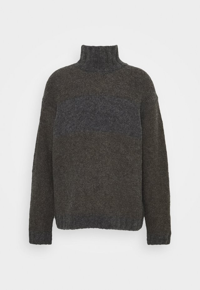 COZY TURTLENECK - Neule - dark grey