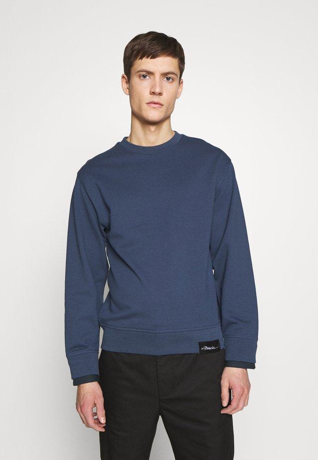 CLASSIC CREWNECK CUFFS - Sweatshirt - petrol blue