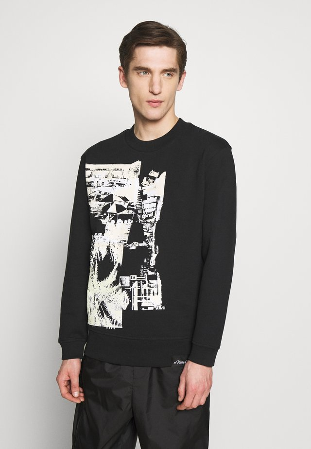 POSTCARD PRINT - Sweater - black