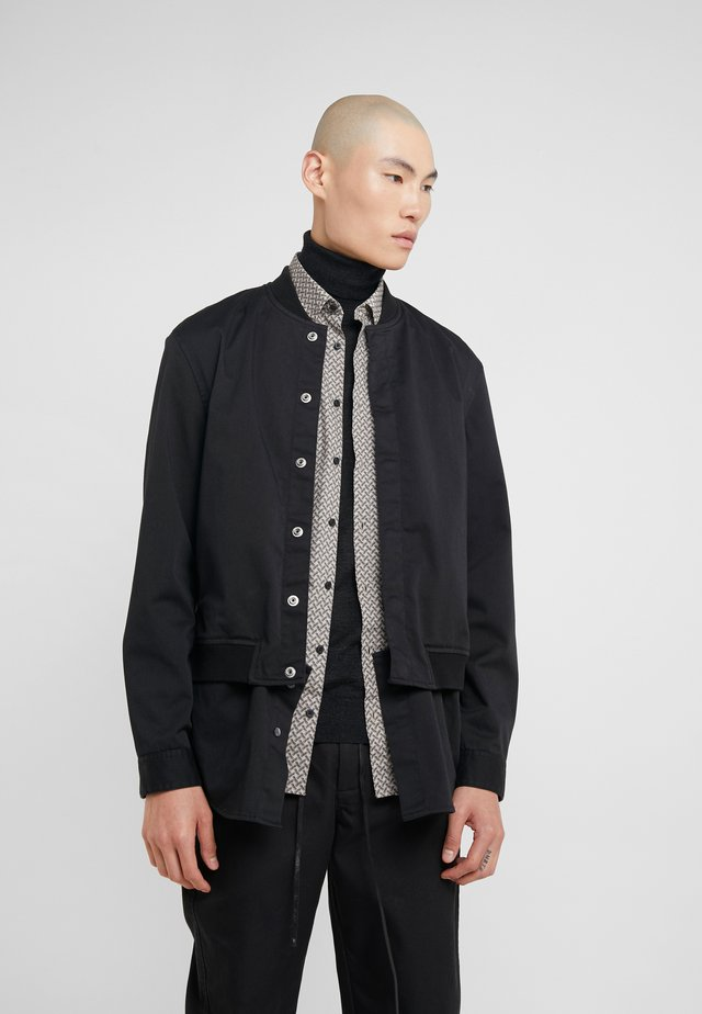 CLASSIC BOMBER SHIRT JACKET - Bomber bunda - black