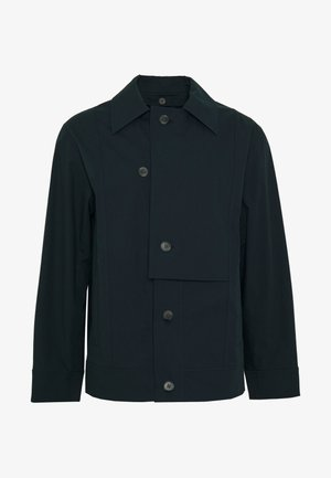 WASHED POPLIN JACKET REMOVABLE COLLAR - Giacca leggera - marine