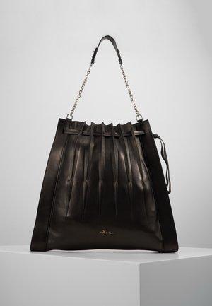 FLORENCE LARGE PLEATED DRAWSTRING TOTE - Tote bag - black