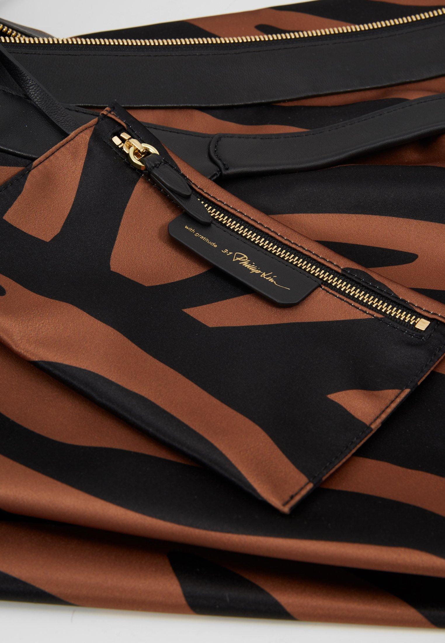 3.1 Phillip Lim LUNA LARGE ZEBRA Shoppingveske black