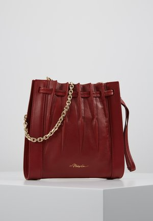 FLORENCE MINI PLEATED DRAWSTRING TOTE - Across body bag - brick