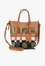ODITA MINI MODERN LATTICE BUCKET - Handbag - multi