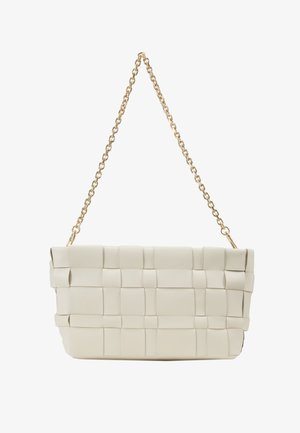 ODITA LATTICE POUCH - Borsa a mano - white