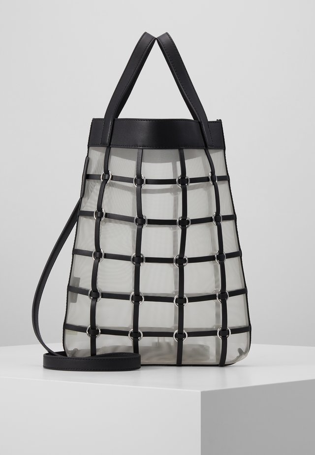 BILLIE MINI TWISTED CAGE TOTE - Shoppingväska - black