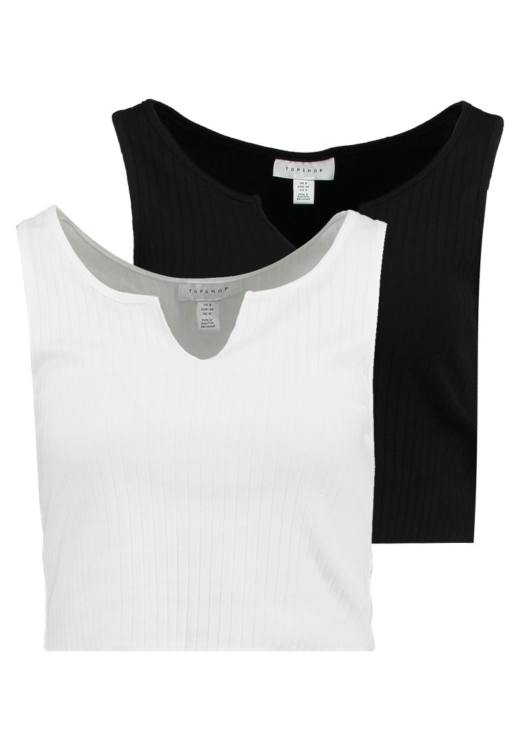 Topshop - NOA NOTCH 2 PACK - Top - black/white