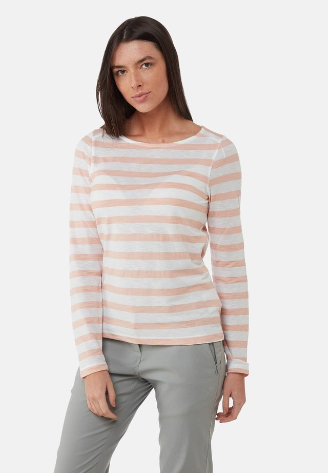 Long sleeved top - corsage pink