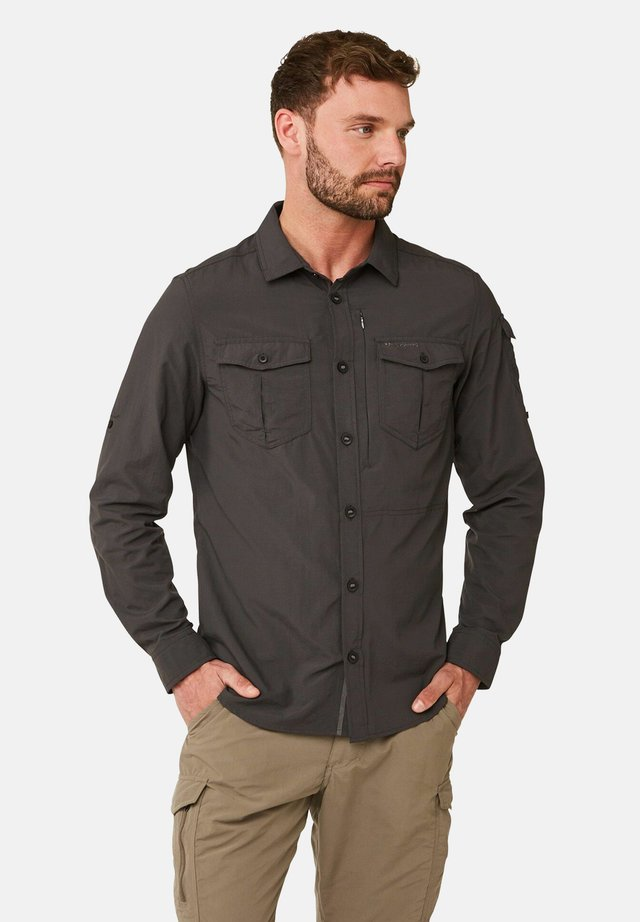 NOSILIFE ADVENTURE LANGARM - Shirt - black pepper