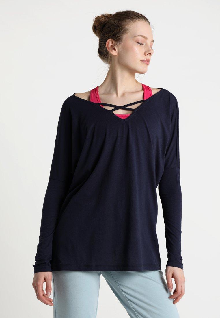 Dimensione Danza - MAGLIA KIMONO LIGHT - T-shirt à manches longues - navy