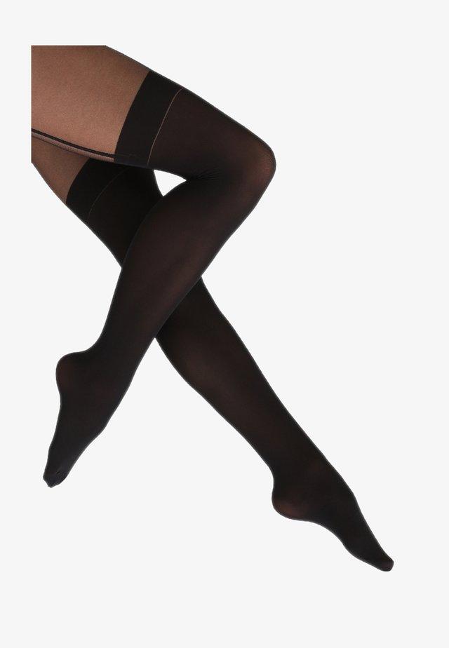 FEMININE SEDUCTION - Collants - black