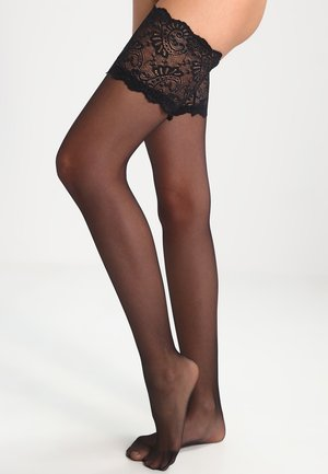 LOOK - Overkneestrumpor - black
