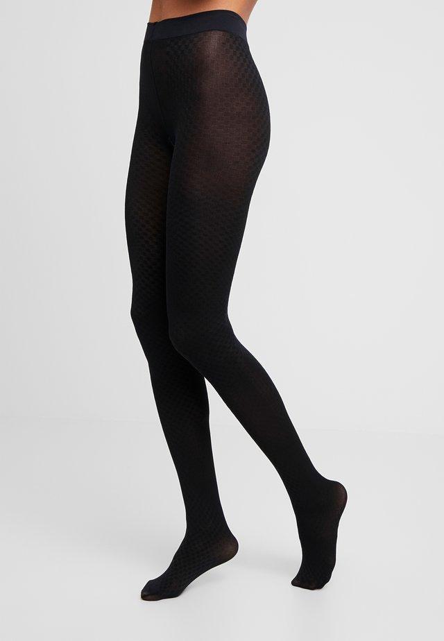 60 DEN CHECK - Collants - black