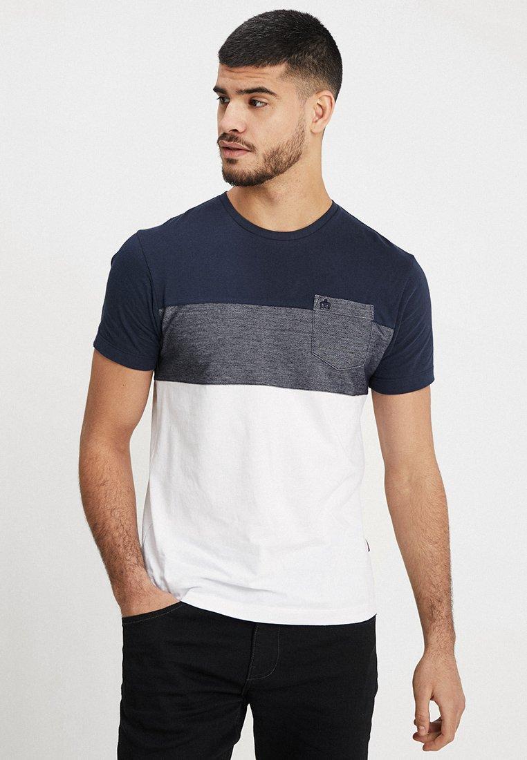 Merc - ROMEO - T-Shirt print - white/navy