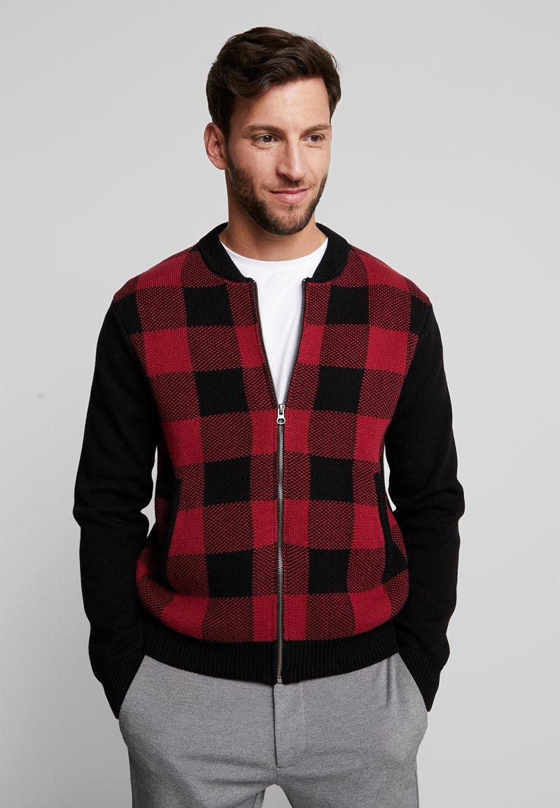 Merc - Cardigan - black/red