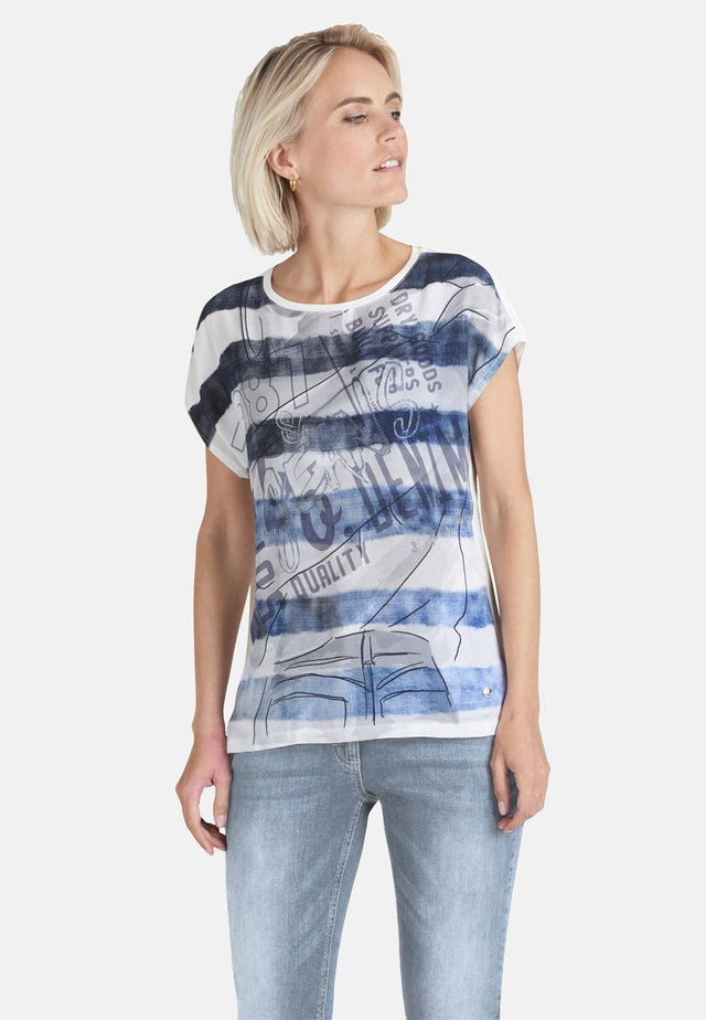 MIT PLACEMENT - Print T-shirt - dunkelblau/grau