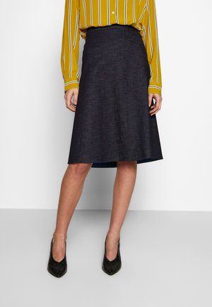 WASHER MIDI - A-line skirt - blau