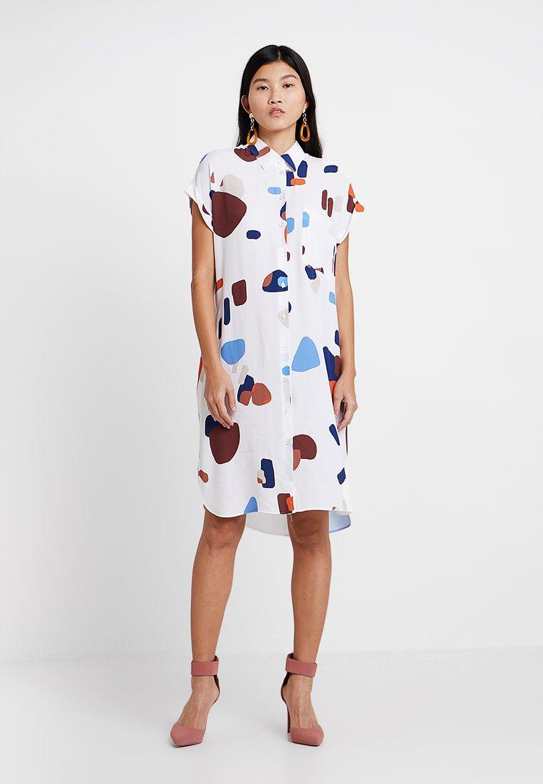 Seidensticker - Robe chemise - weiß/blau