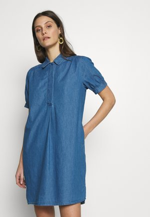 WASHER - Robe en jean - blau