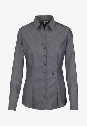 SCHWARZE ROSE - Button-down blouse - grau