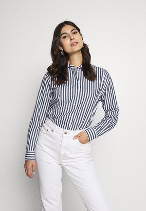 FASHION  LANG - Button-down blouse - dunkelblau