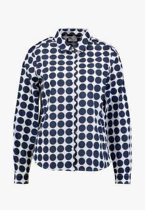 LANGARM - Button-down blouse - weiß/blau