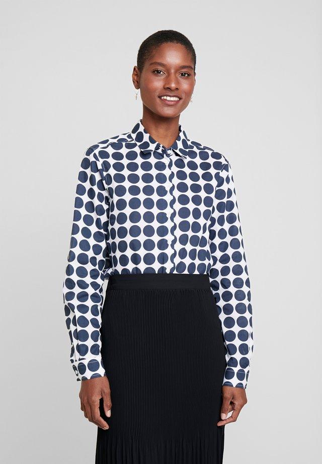 LANGARM - Koszula - weiß/blau