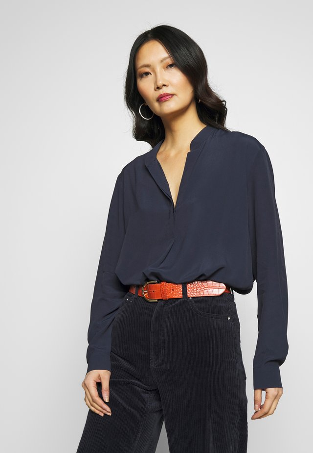 Blouse - navy blazer