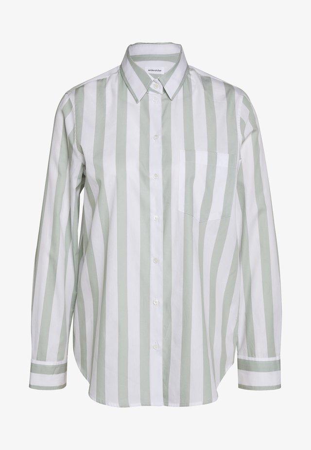 LANGARM - Button-down blouse - grün